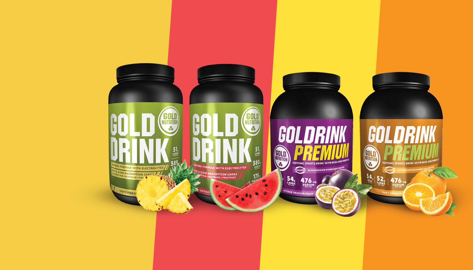 GoldDrink Novos sabores de isotónico